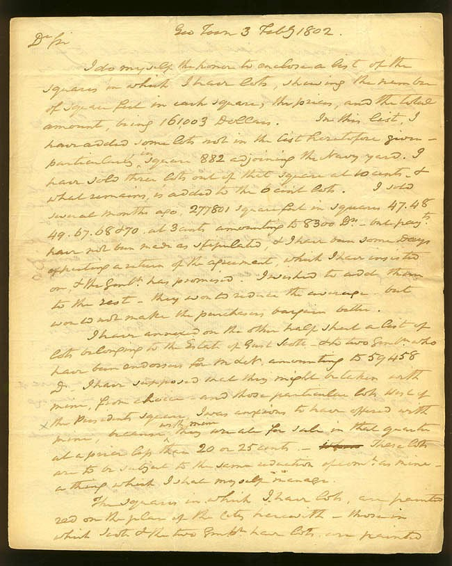 Benjamin Stoddert letter dated 3 February 1802 [page 1]