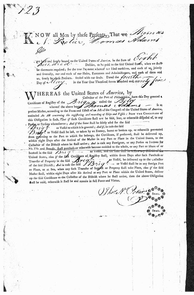 "Page 2 ""Proof of Ownership"" document - 2 May 1795."
