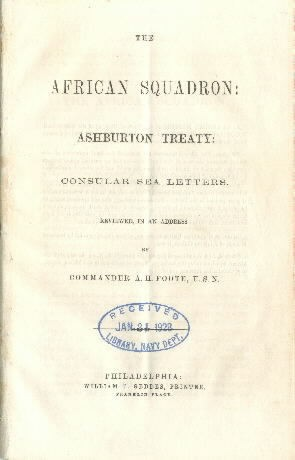 Image of the title page of African Squadron.