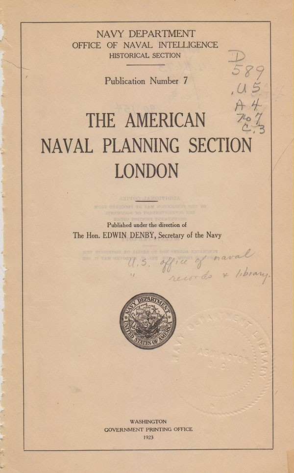 American Naval Planning London cover image.