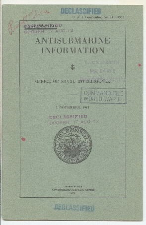 Image of cover to 'Antisubmarine Information'