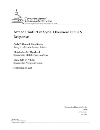 "Cover image - ""Armed Conflict in Syria."""