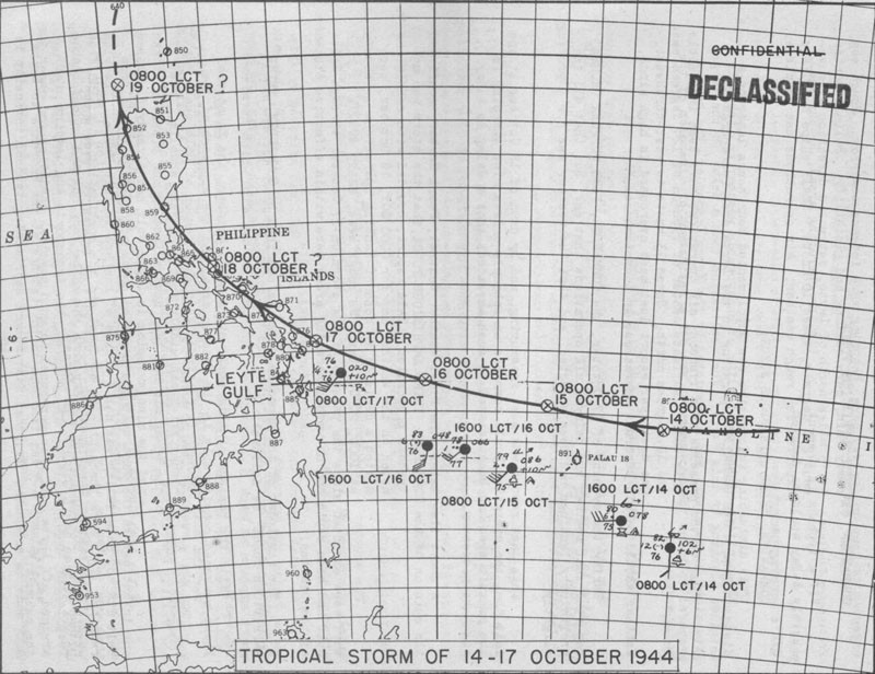 TROPICAL STORM OF 14-17 OCTOBER 1944.