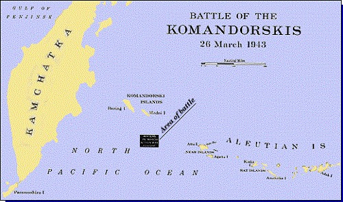 Map 2: Battle of the Komandorskis, 26 March 1943