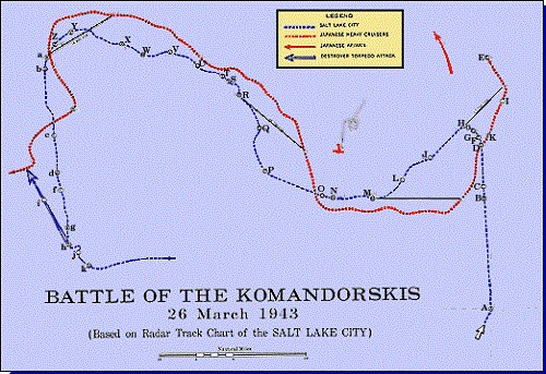 Map 3: Battle of the Komandorskis, 26 March 1943