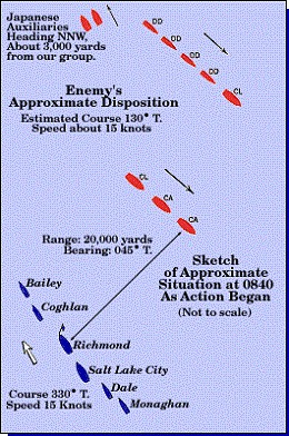 Map 5: Enemy's Approximate Disposition.