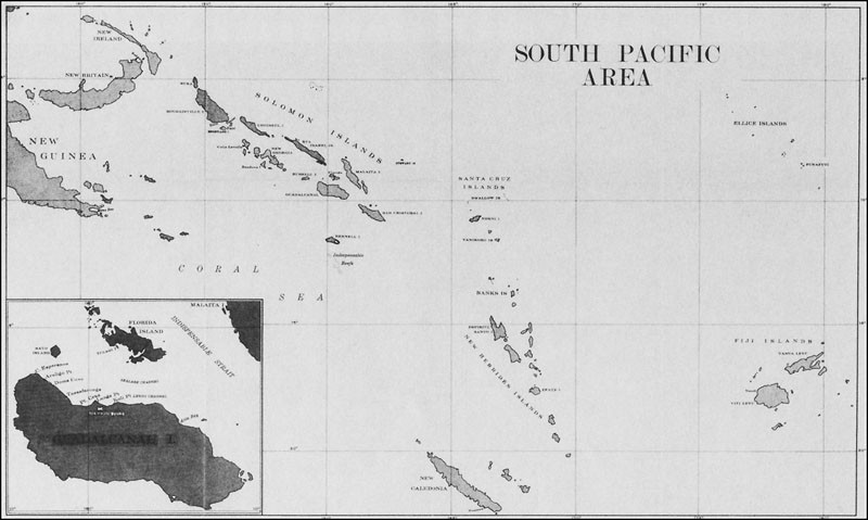South Pacific area chart.