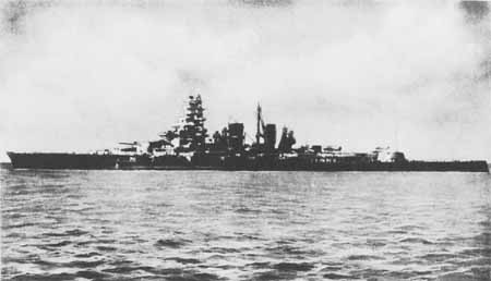 Sister ship of the Hiyei, HIJMS Kirishima, sunk by USS Washington in action of 14-15 November.