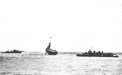 Destroyers standing by the Yorktown.