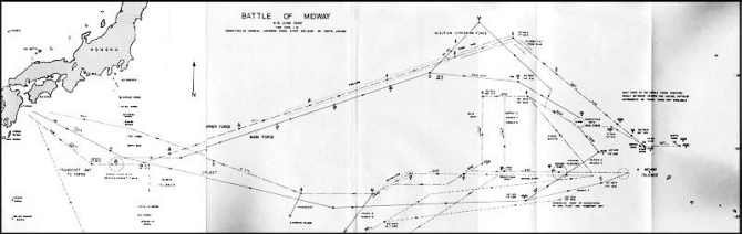 Chart of the Battle of Midway.