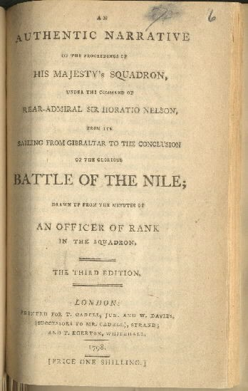 Cover image - Battle of the Nile