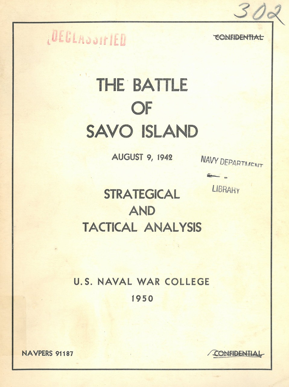 Cover image - The Battle of Savo Island August 9, 1942 Strategical and Tactical Analysis