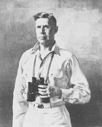 Image of Admiral Raymond Ames Spruance, USN with binnoculars