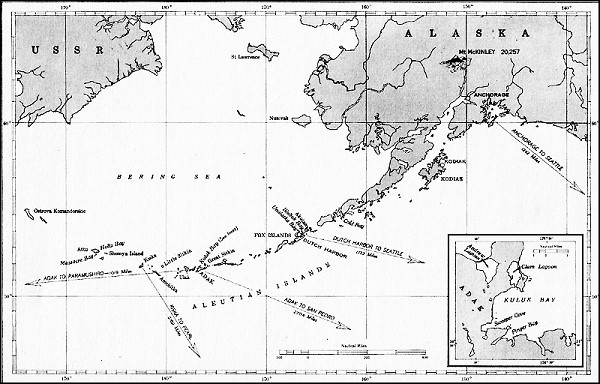 Image of Map: Aleutian Islands.