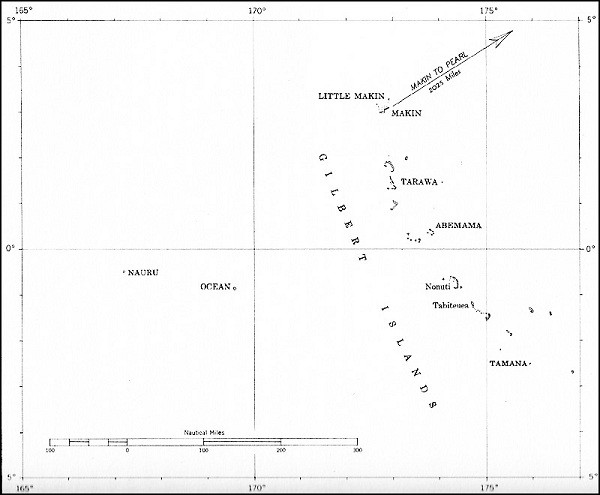 Image of Map: Gilbert Islands.