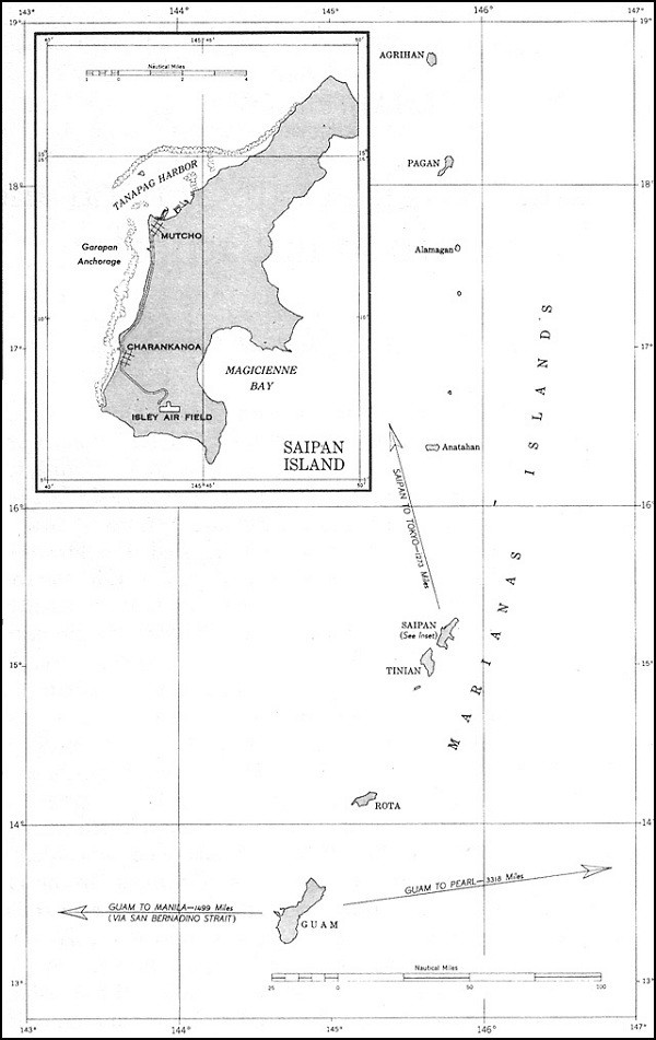 Image of Map: Marianas Islands.