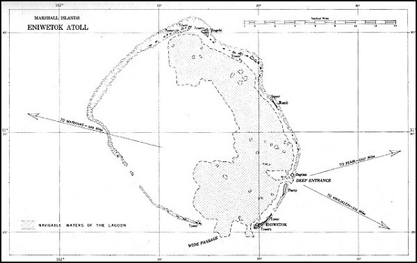 Image of Map: Eniwetok Atoll.
