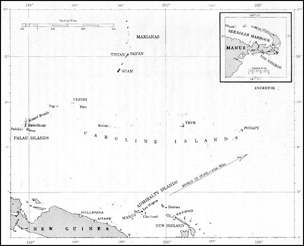 Image of Map: Caroline Islands.