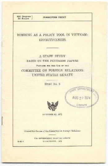 Image of Bombing As a Policy Tool in Vietnam cover