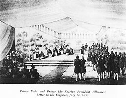 Prince Toda and Prince Ido Receive President Fillmore's Letter to the Emperor, July 14, 1853.