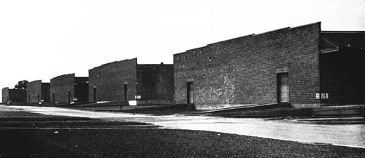 Windowless, Concrete-block, General Storehouses, NSD Mechanicsburg.