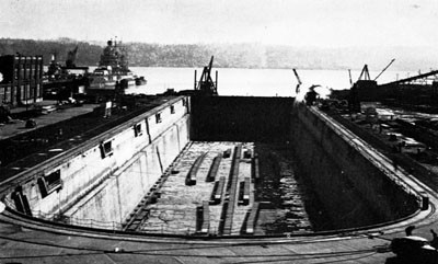 Dry Dock No. 4, Puget Sound Navy Yard.