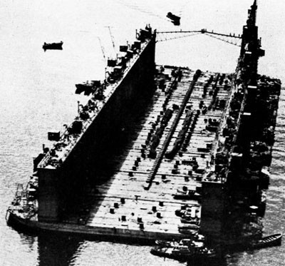 Advance Base Sectional Dock in the South Pacific.