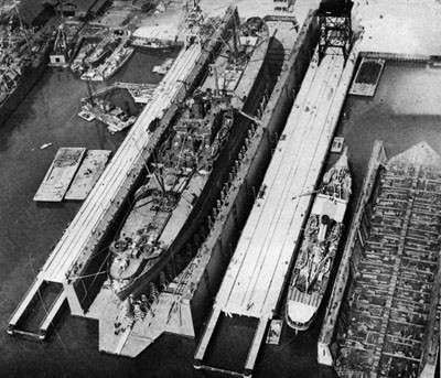 First Ships in YFD-16 Jacksonville, February 1943.