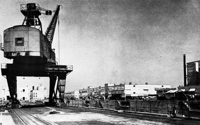 Crane, Drydock, and Sheet Metal Shop, Bayonne Annex of the New York Navy Yard.