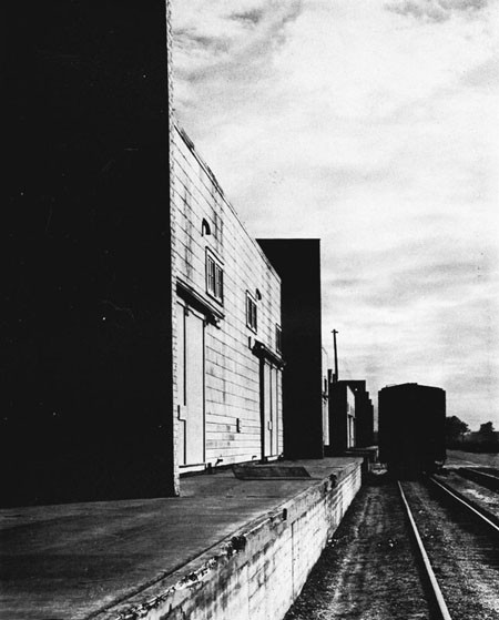 Warehouses and Railroad at Advance Base Depot, Gulfport, Miss.