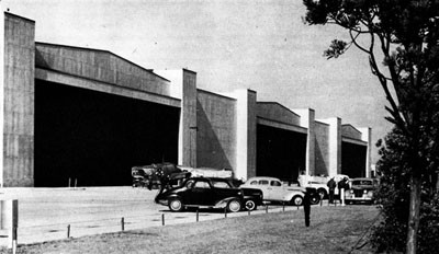 Hangars at Alameda Naval Air Station.