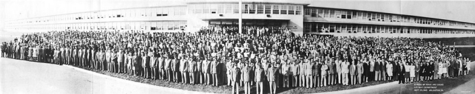 Personnel of the Bureau of Yards and Docks, September 1945.