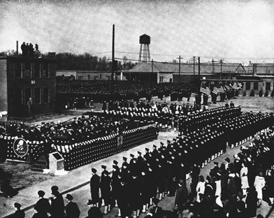 Dedication of U.S. Naval Construction Training Center, Camp Endicott, Davisville, R.I.