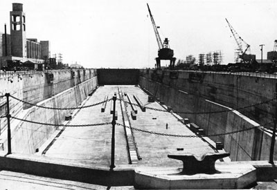 Dry Dock No. 7, Bayonne Annex to the New York Navy Yard.