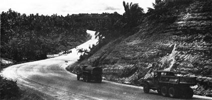 Highway Scene on Guam, November 1945.