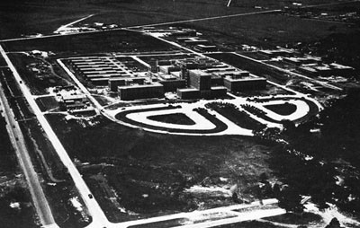 Naval Hospital, Houston, Showing Permanent and Temporary Construction.