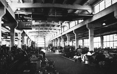 Interior of Electrical Ship, Terminal Island (Calif.) Naval Drydocks.