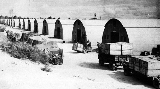 Quonset Warehouses at Guam.