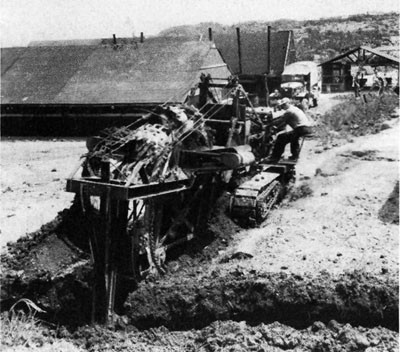 Trenching Machine at Okinawa.