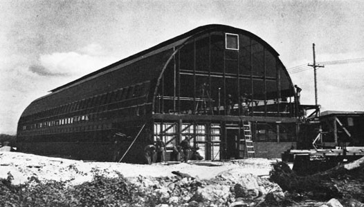 Quonset Warehouse Adapted as Two-story Barracks for WAVES, Oahu.
