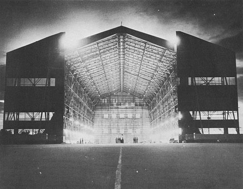 LTA Steel Hangar, Built by the 80th Seabees, at Carlson Field, Trinidad.