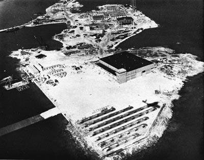 NAS Bermuda in the Process of Construction.