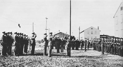 Commissioning Ceremony, NAS Argentia Marines take over, July 15, 1941.
