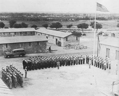 VP73 and Hedron 15 Personnel at Quarters, Agadir, Awaiting Distinguished Flying Cross Awards.