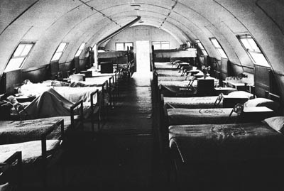 Interior of Temporary Ward, St. Michael's Hospital, Falmouth.
