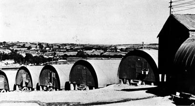 Personnel Huts at Vicarage Base, Plymouth.