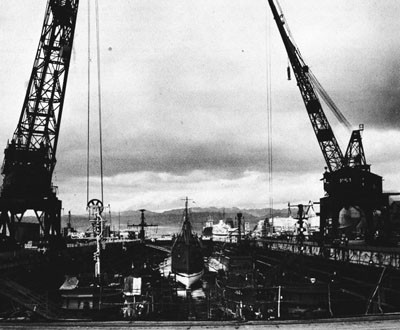 Dry Dock No. 1, Pearl Harbor Navy Yard.