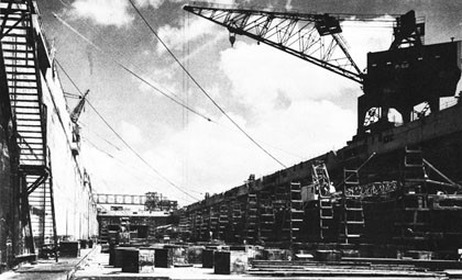 Dry Dock No. 4, Pearl Harbor Navy Yard.
