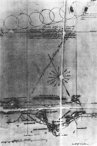 Captain Winslow's track chart of the engagement
