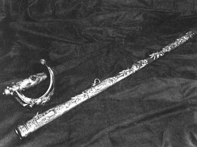 Sword presented to Captain Semmes by British officers